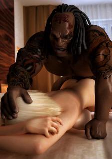 Brutal Interracial -3D Monster Hardcore Porn Comix