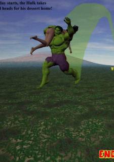 Incredible Hulk VS Wonder Woman Porn Comix