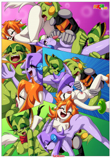 Palcomix- Watching Movie With Friends [Freedom Planet] Porn Comix