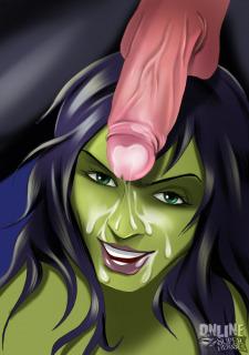 She Hulk- Green Lantern- Green Meeting Porn Comix