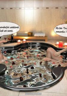 Shemale-Threesome bath Porn Comix