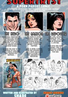 [Shade] Supertryst (Justice League) Sex Parody Porn Comix