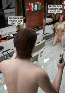 Two boys fuck a woman at haircut- 3DStories Porn Comix